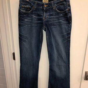 BKE Star Stretch flare jeans sz 29x37 1/2 EUC LN